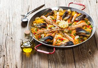 Traditional spanish food paella