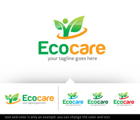 Eco Concept Logo Design Template