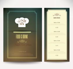 Restaurant  menu design.vector illustration