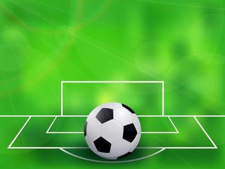 Abstract soccer football