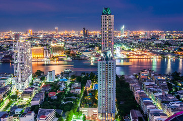 Twilight views bangkok city