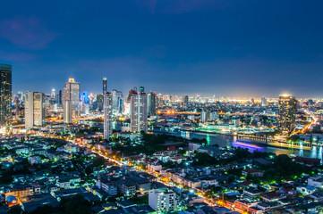 Twilight views bangkok city