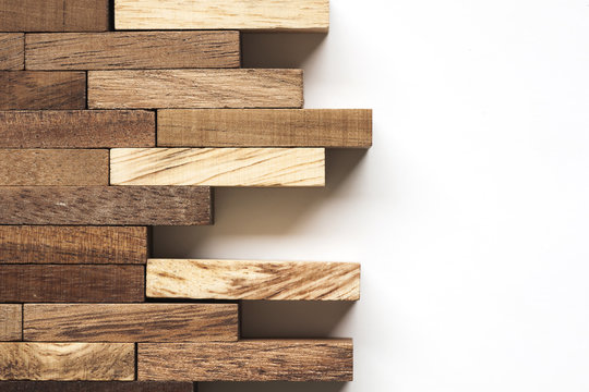 Stack of wooden bars.