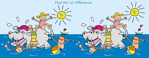 Search differences, hippo and kids