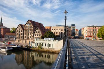 Bydgoszcz Skyline with Granaries in Poland