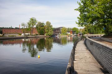 Mill Island and Brda River in Bydgoszcz