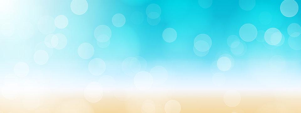 summer beach banner background illustration
