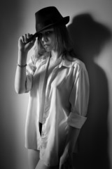 blouse and hat