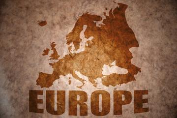 vintage european map
