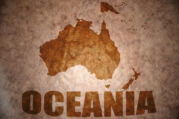 vintage oceania map