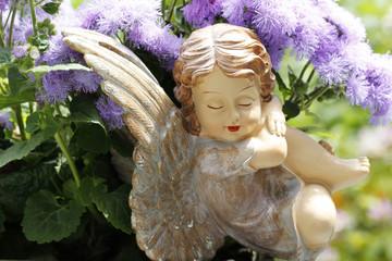 ange et fleurs