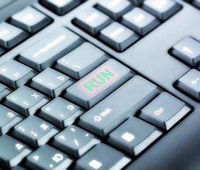 Keyboard with RUN Button