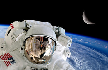 Astronaut Spaceman Isolated Helmet