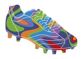 chaussure de football psychédélique