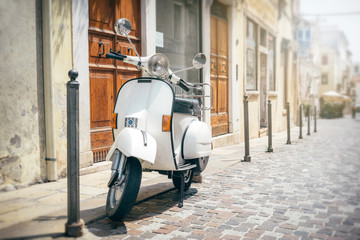 Photo Blinds Scooter Vespa, Italian scooter