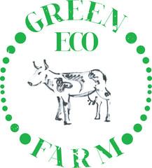 Logotype Eco cow farm