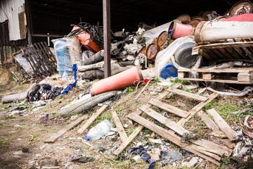 Abandoned garbage dump.