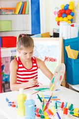 Schoolgirl in the classroom