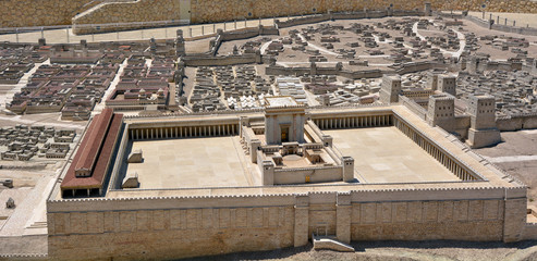 Second Temple Model of the ancient Jerusalem - Israel