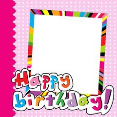 Happy Birthday scrapbook for baby girl