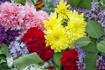 Bouquet of bright colors.
