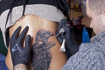 tattoo artist closeup