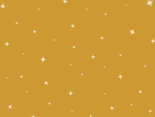 Shining stars on a golden background