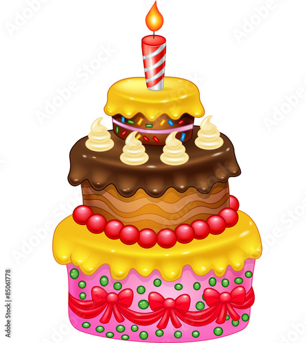 Cartoon Birthday Cake Stock Image And Royalty Free Vector Files On