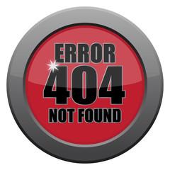 Error 404 Not Found Dark Metal Icon