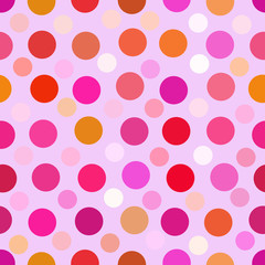 Art color dots generated seamless texture