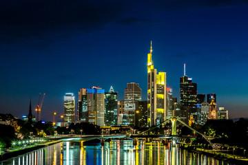 Frankfurt am Main during sunset