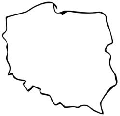 Fototapeta Mapa Polski Kontury  obraz