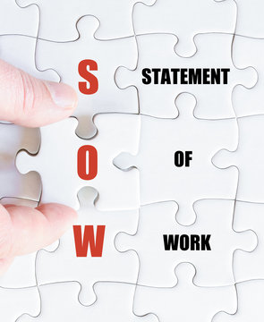 Last puzzle piece with Business Acronym SOW
