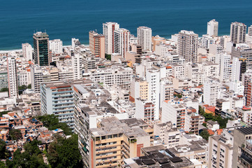 Ipanema District Aerial View