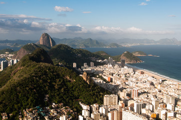 Copacabana and South Zone with Sugarloaf Mountain in Rio