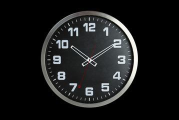 Standless Clock Isolate on Black Background