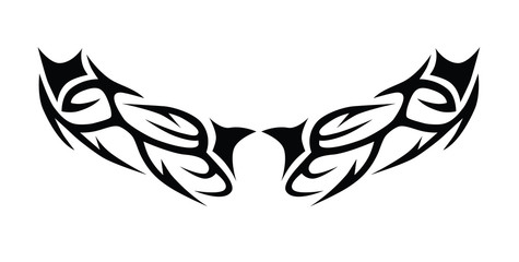 Tribal tattoo vector designs sketch. Simple abstract black ornament on white background. Designer isolated art element for ideas decorating the body of women, men and girls arm, leg.