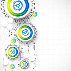 Abstract global computer technology vector concept.