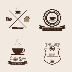 Set of Coffee Shop