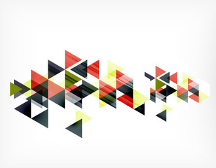 Triangle pattern composition, abstract background with copyspace