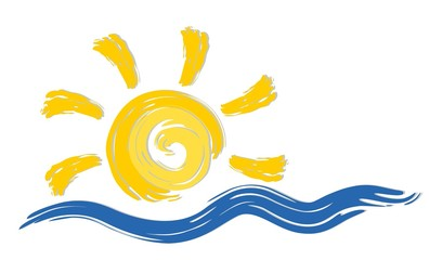 Logo sea and sun.