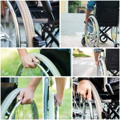 Paralized people using a wheelchair