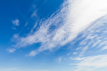 Blue sky with white clouds, background texture