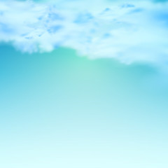 Blue sky with clouds, easy editable