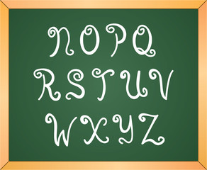 hand drawn curly letters