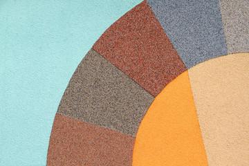 Verschiedene Außenputze und Fassadenfarben
