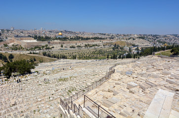 Mount of Olives Jewish Cemetery in Jerusalem - Israel