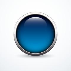 Vector blue button