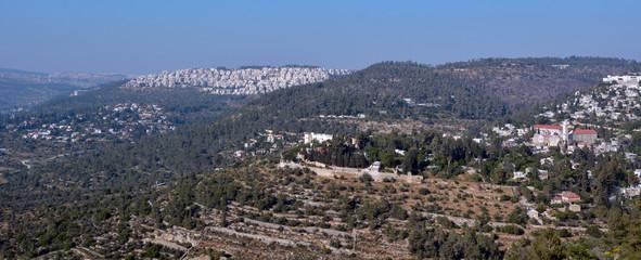 Landscape of Jerusalem mountains - Israel