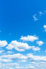 little white clouds in summer blue sky